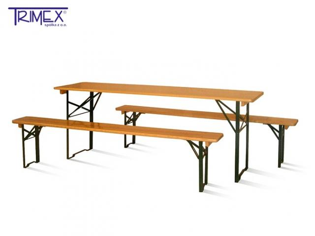 Wooden Folding Beer Set / Beer Table with Benches / Garden Furniture ...